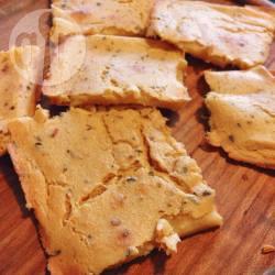 Farinata (plat brood) van kikkererwten en rozemarijn recept ...