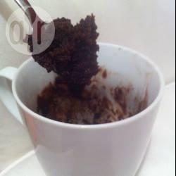 Snelle en makkelijke chocoladecake in een mok recept