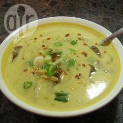 Thaise garnalen en kokosnootsoep recept