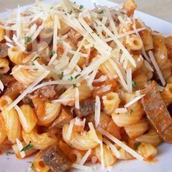Pasta met corned beef recept