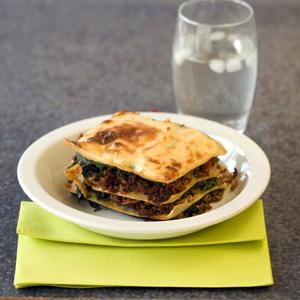 Lasagne con spinaci e mozzarella recept