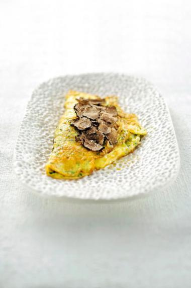 Recept 'omelet met porchetta en truffel'