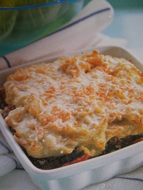 Courgette-moussaka met roquefort recept