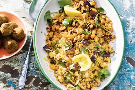 Couscous met aubergine