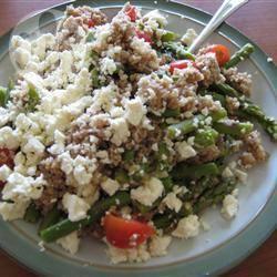 Couscoussalade met asperges en feta recept