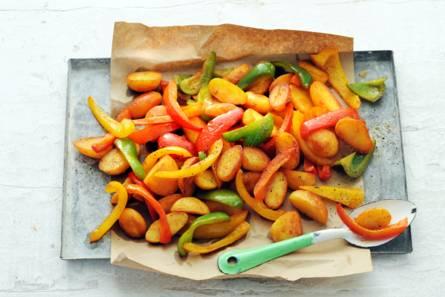 Aardappelen en paprika uit de oven