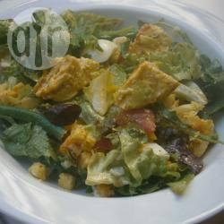 Salade met kip, boontjes en krieltjes recept