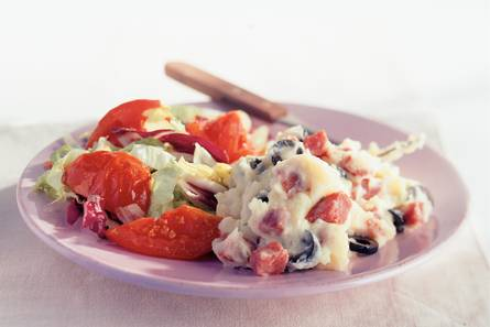 Puree met gebakken tomaten
