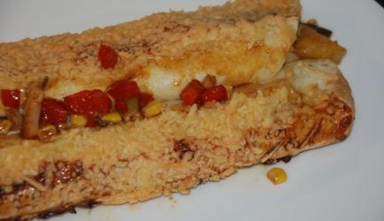 Tortilla wraps met gerookte kip en ananas recept