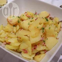 Gebakken aardappelen met spek recept