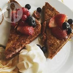 Frambozen-cheesecake wentelteefjes recept