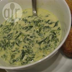 Romige spinazie soep recept
