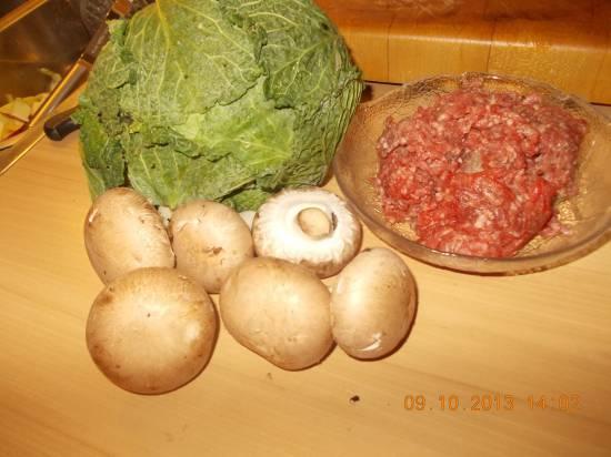 Heerlijke ovenschotel groene kool met champignons en gehakt ...