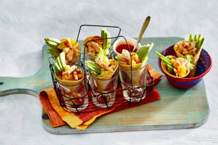 Tacocones met kip en ananas