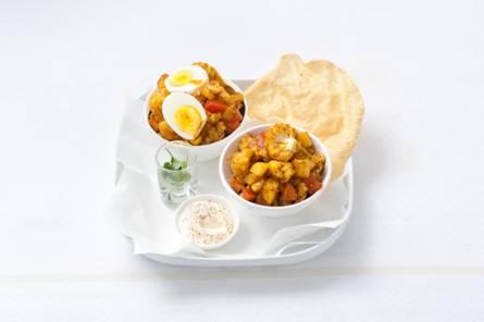 Indiase curry met aardappel en bloemkool