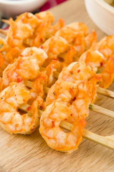 Recept 'zuiderse pastasalade met scampis'