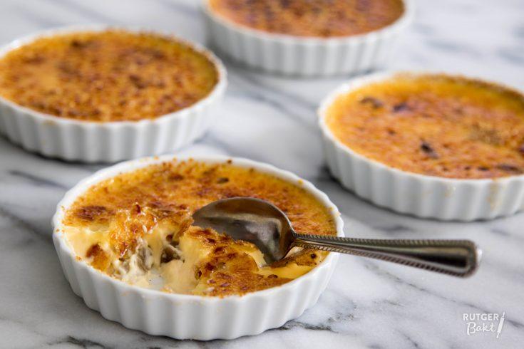 Crème brûlée met rabarber van rutger