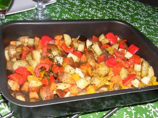 Gemengde groenten uit oven recept