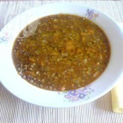 Griekse linzensoep (fakes) recept