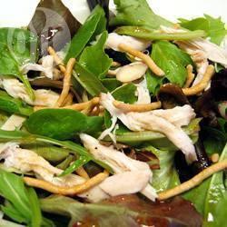 Oosterse salade met kip recept