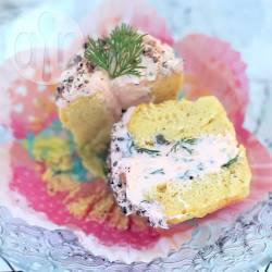 Hartige muffins met crème van gerookte zalm recept
