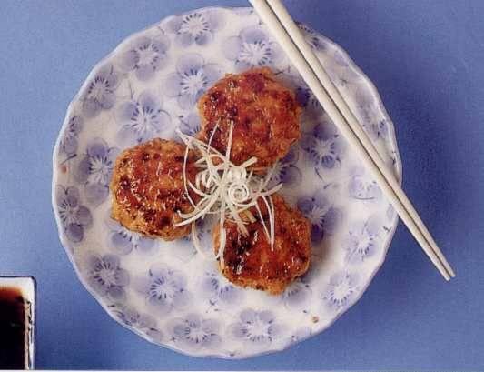 Kipburgertjes met teriyakisaus[tsukune] recept