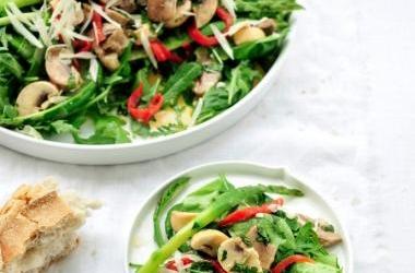 Groene salade met manchego recept