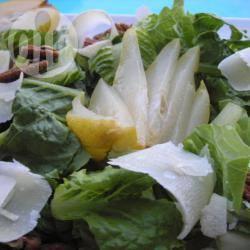 Salade met peer en pecorino kaas recept