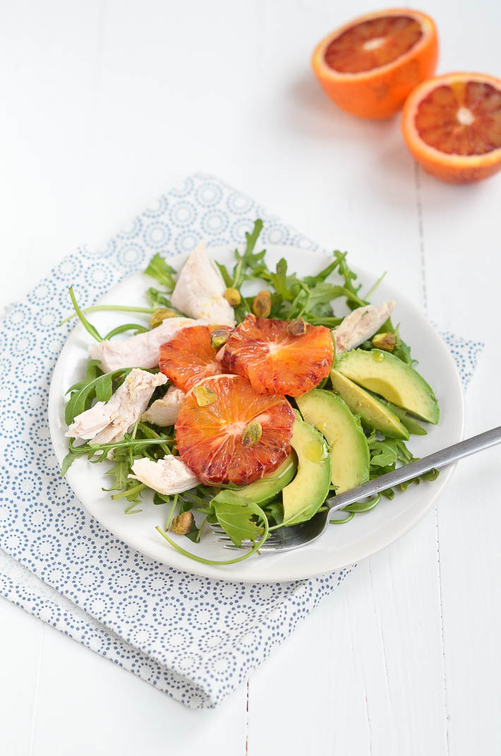Salade met bloedsinaasappel  30 days of veggies