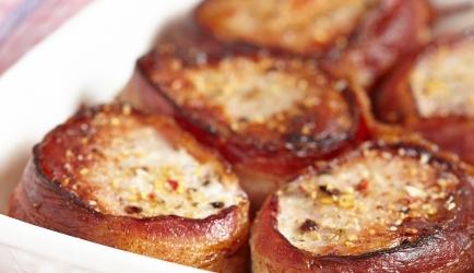 Varkenshaas mosterd/spek recept