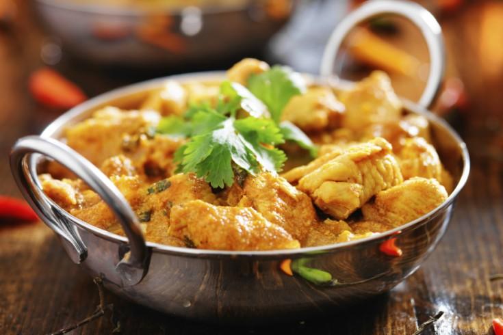 Heerlijke indiase curry madras met kip