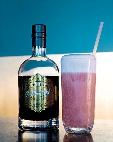 Recept 'sloeberry gin fizz'