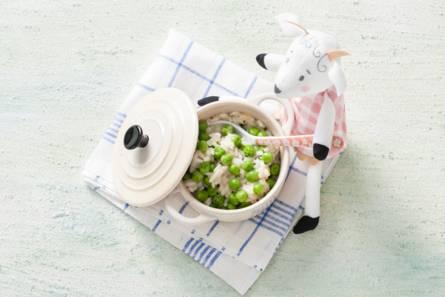 Opperdepop: risotto met doperwtjes 10-12 mnd