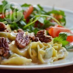 Tortellini met gorgonzola en pecannoten recept