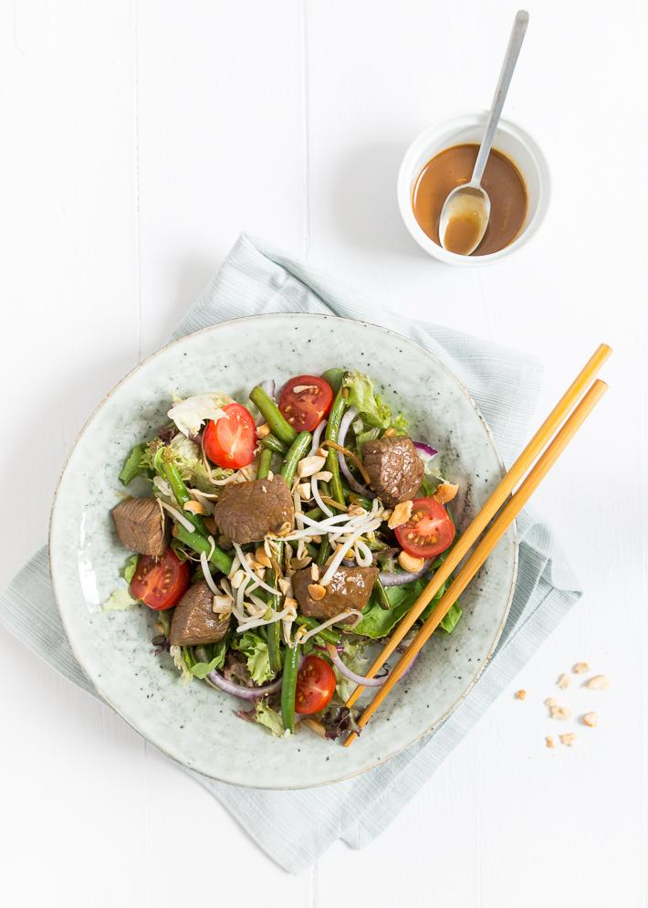 Salade biefstuk bali van loetje