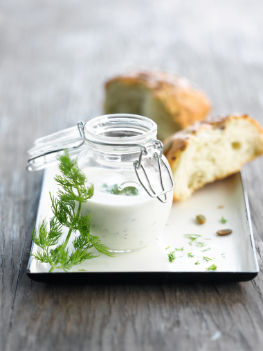 Recept 'dille-yoghurtdressing'