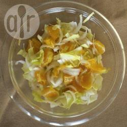 Witlofsalade met mandarijn recept