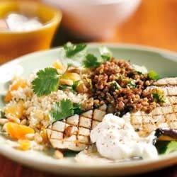 Gehakt met aubergine en couscous recept
