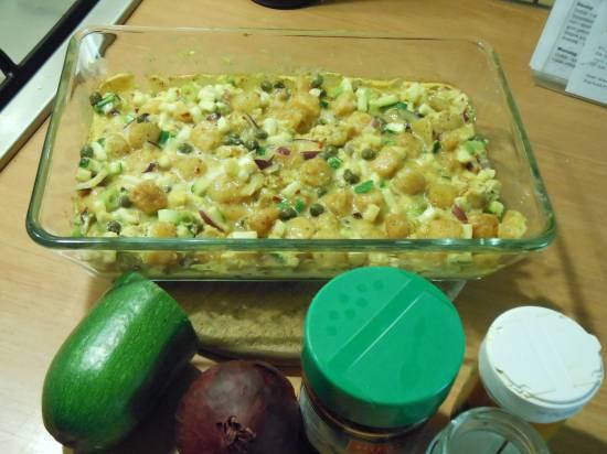 Ovenschotel met krieltjes en courgette. recept