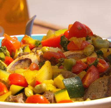 Recept 'groene couscous met kalfsschenkel'