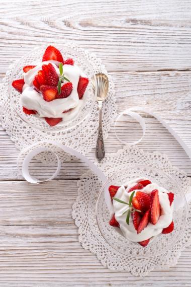 Recept 'aardbeien romanoff'