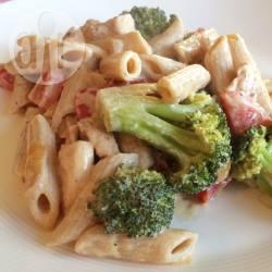 Pasta met boursin en groenten recept