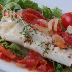 Snelle italiaanse kabeljauwfilet recept