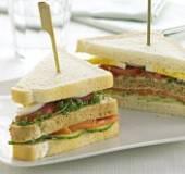 Clubsandwich met gerookte zalm recept