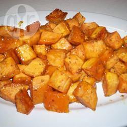 Zoete aardappel met honing en rozemarijn recept