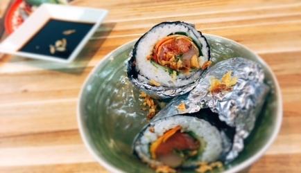 Sushi burrito recept
