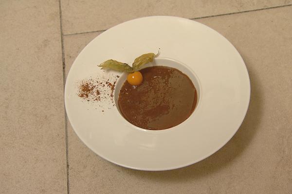 Panna cotta met chocolade