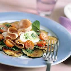 Carpaccio van aubergine met fricandeau en mozzarella recept ...