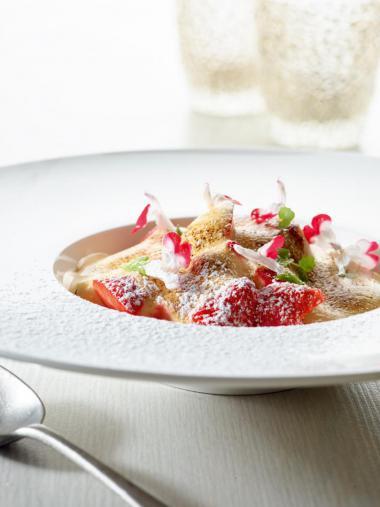 Recept 'sabayon met aardbeien'