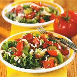Tomaten en komkommer salade recept